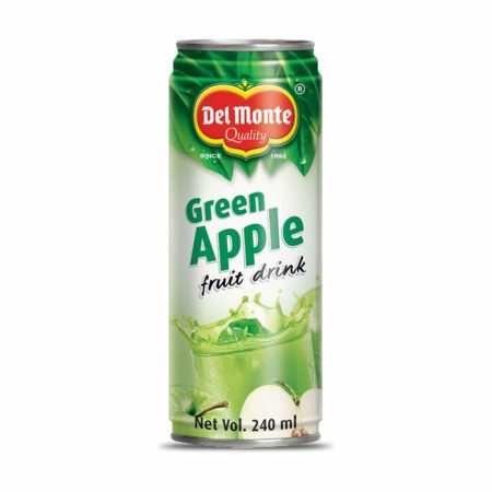 Del Monte Green Apple Fruit Drink Can - 240ml