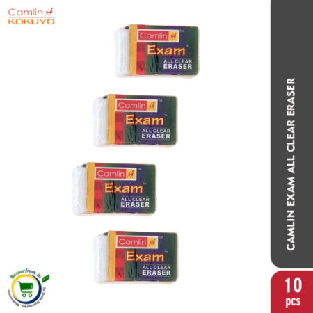 Camlin Exam All Clear Eraser [Pack of 10]