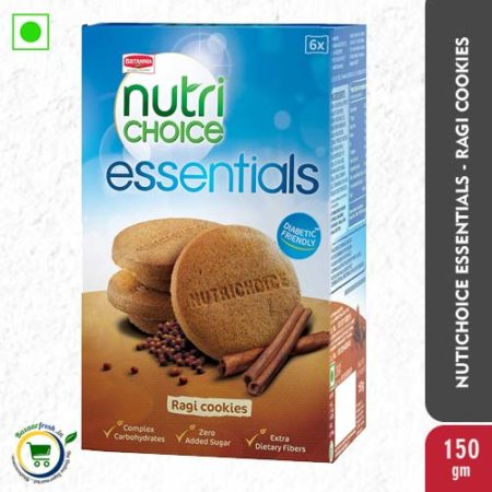 Britannia Nutri Choice Essentials - Ragi Cookies - 150g