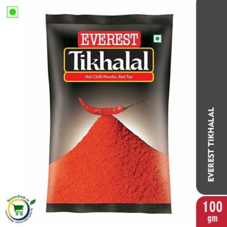Everest Tikhalal Hot & Red Chilli Powder - 100gm