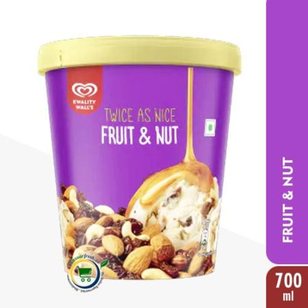 Kwality Walls Fruit & Nut [ Ice Cream Tub ] - 700ml