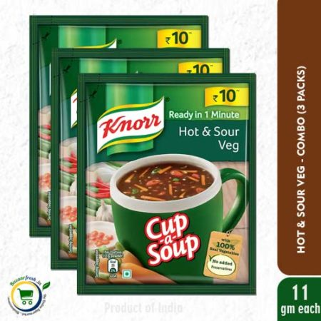 Knorr Cup-A-Soup - Hot & Sour Veg - 11g [ Pack of 3 ]