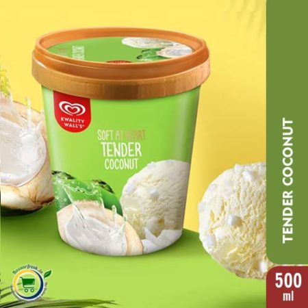 Kwality Walls Tender Coconut [ Ice Cream Tub ] - 500ml