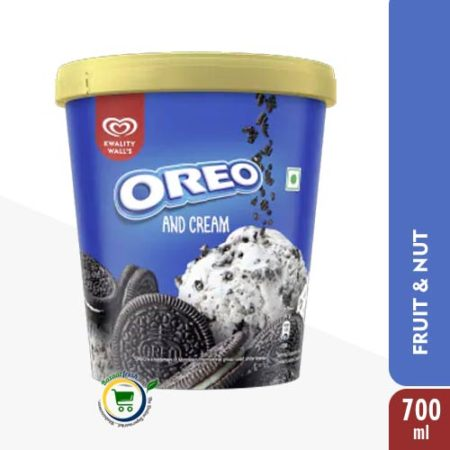 Kwality Walls Oreo & Cream [ Ice Cream Tub ] - 700ml