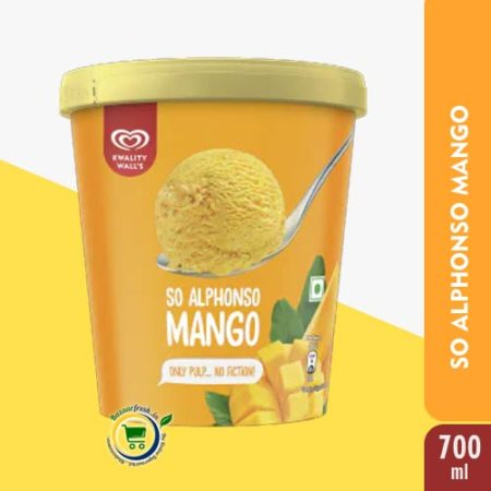 Kwality Walls So Alphonso Mango [ Ice Cream Tub ] - 700ml