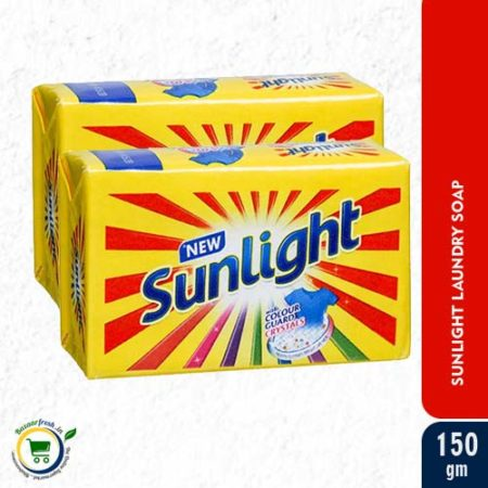 Sunlight Detergent Bar -150gm [ Pack of 2]