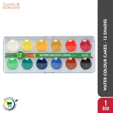 Camlin Students Water Colour Cakes - 12 Shades