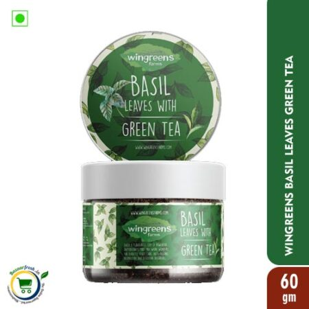 Wingreens Farms Basil Leaves with Green Tea - 60gm