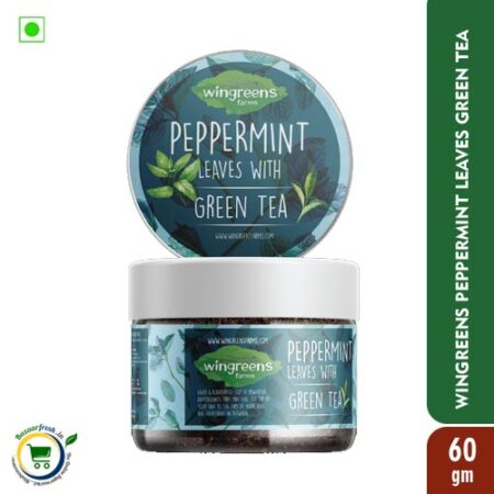 Wingreens Farms Peppermint Leaves with Green Tea - 60gm