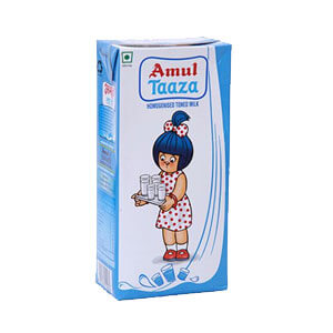 Amul Taaza Homogenised Toned Milk