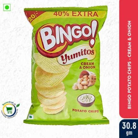 Bingo Potato Chips - Cream & Onion