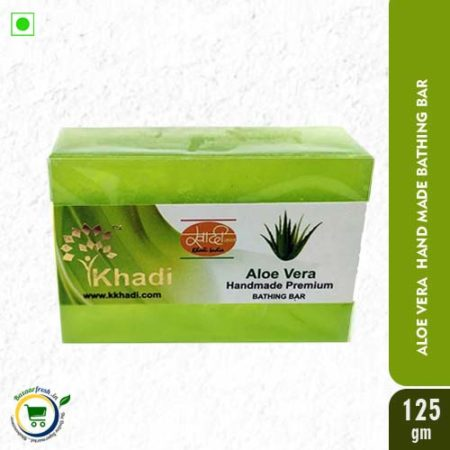 Khadi Aloe Vera Handmade Premium Bathing Bar - 125gm