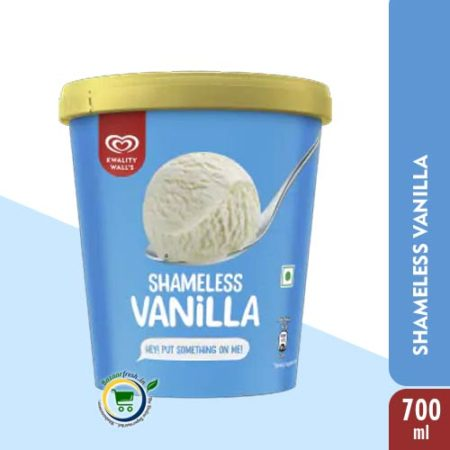 Kwality Walls Shameless Vanilla Tub