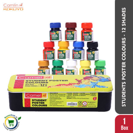 Camlin Students Poster Colours - 12 Shades