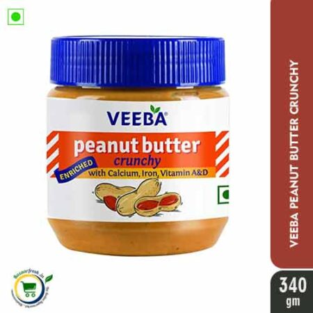 Veeba Peanut Butter - Crunchy - 340gm at bazaarfresh.in