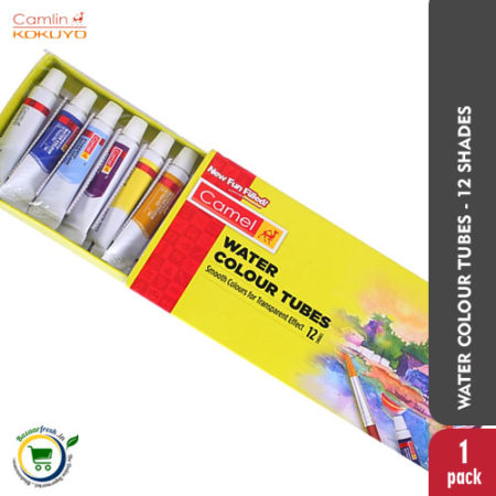 Camel Water Colour Tubes - 12 Shades